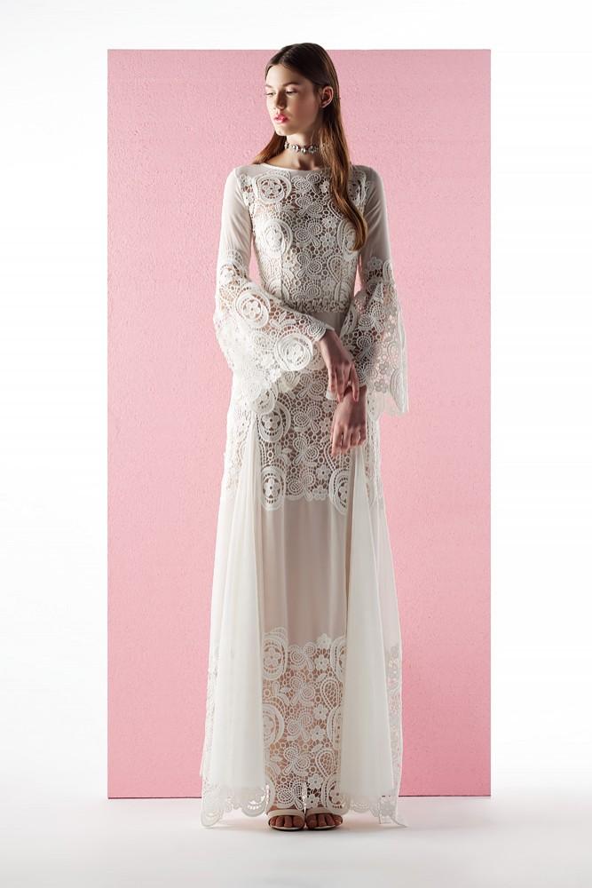 e53128a3af12 Μακρύ λευκό φόρεμα - mavridou.com