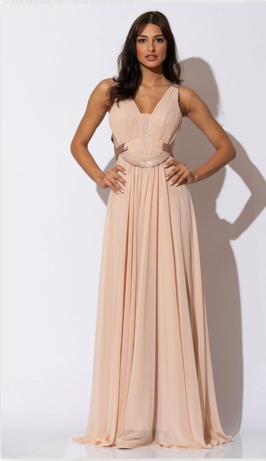 Μακρύ φόρεμα απο μουσελίνα - mavridou.com eb5d29bdc6d